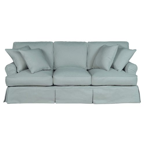 Horizon Slipcovered Collection - Padded Sofa - front view SU-117600-391043