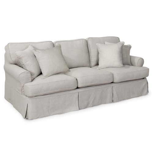 Horizon Slipcovered Collection - Padded Sofa - three-quarter view SU-117600-220591