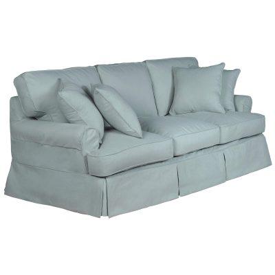 Horizon Slipcovered Collection - Padded Sofa - three-quarter view SU-117600-391043