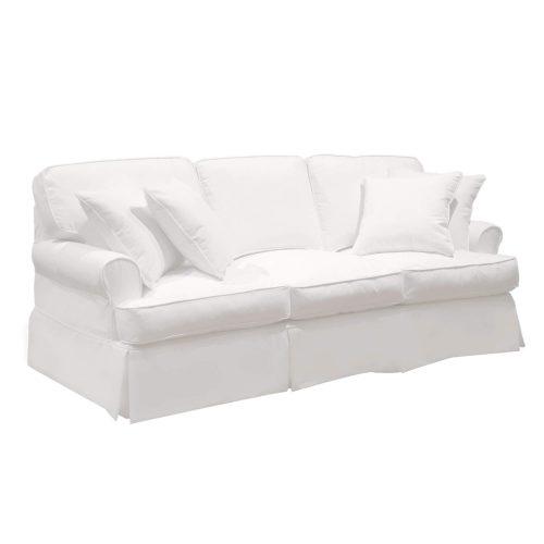 Horizon Slipcovered Collection - Padded Sofa - three-quarter view SU-117600-423080