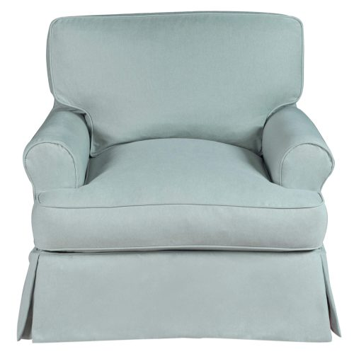 Horizon Slipcovered Collection - Padded T-Cushion chair - front view SU-117620-391043