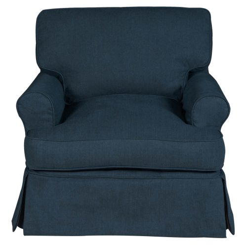 Horizon Slipcovered Collection - Padded T-Cushion chair - front view SU-117620-391049