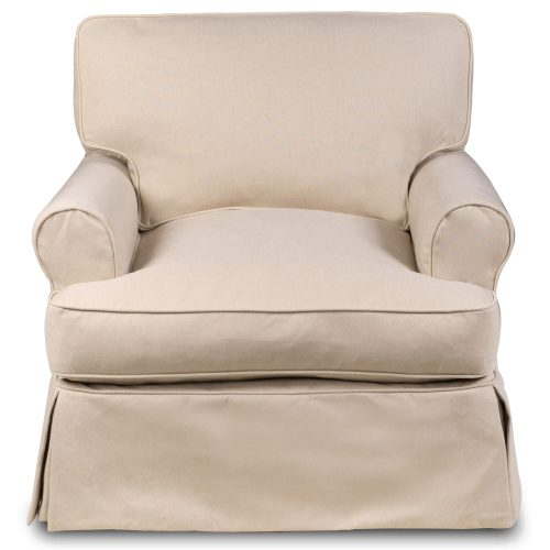 Horizon Slipcovered Collection - Padded T-Cushion chair - front view SU-117620-391084