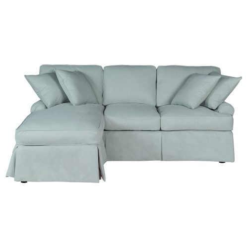 Horizon Slipcovered Collection - Sleeper Sofa with chaise on left - front view SU-117678-391043