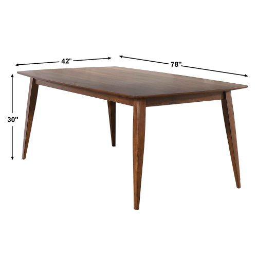 Mid Century Dining Collection - Dining table - 78 inch - dimensions - DLU-MC4278