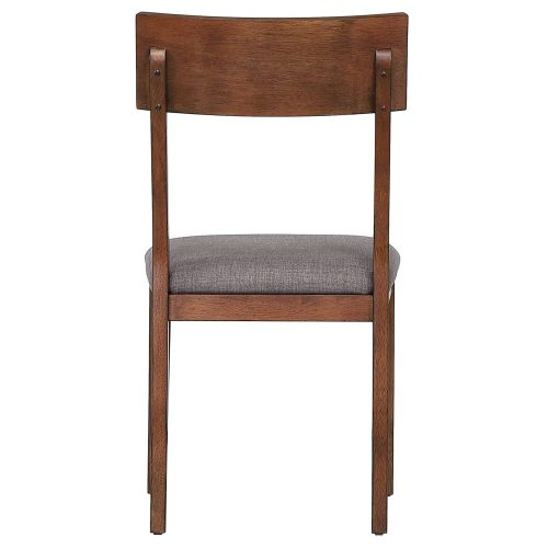 Mid-Century Dining Collection - dining chair with padded performance seat - back view DLU-MC-C45