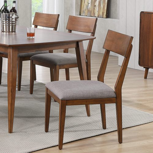 Mid-Century Dining Collection - dining chair with padded performance seat - dining room setting DLU-MC-C45