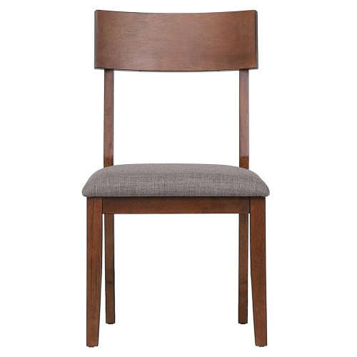 Mid-Century Dining Collection - dining chair with padded performance seat - front view DLU-MC-C45