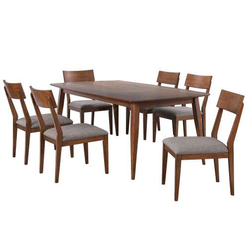 Mid-Century Dining Collection - seven-piece dining set - three-quarter view - DLU-MC4278-C45-7P
