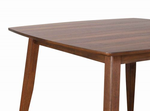 Mid century dining collection - counter height pub table - closeup of top and legs - DLU-MC4848