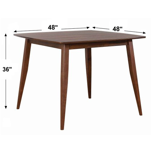 Mid century dining collection - counter height pub table - dimensions - DLU-MC4848