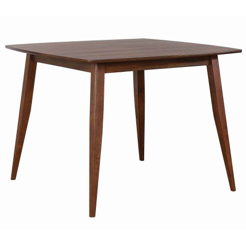 Mid century dining collection - counter height pub table - three-quarter view - DLU-MC4848