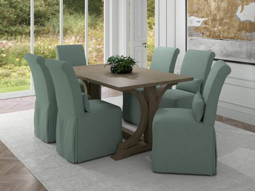 Newport Slipcovered Collection - Dining Chair - dining room setting SY-1025906-391043