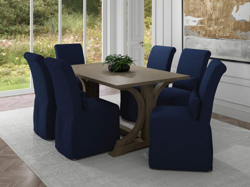 Newport Slipcovered Collection - Dining Chair - dining room setting SY-1025906-391049