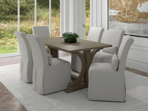Newport Slipcovered Collection - Dining Chair - dining room setting SY-1025906-391081