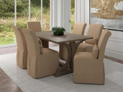Newport Slipcovered Collection - Dining Chair - dining room setting SY-1025906-391084