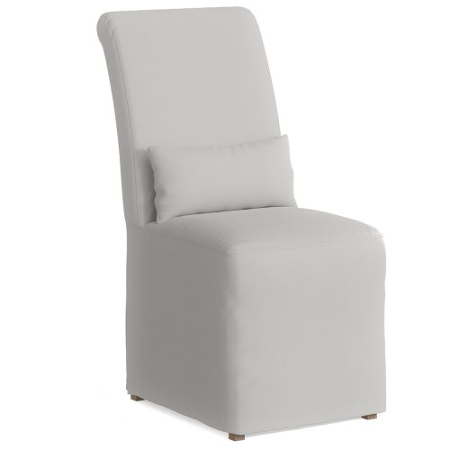 Newport Slipcovered Collection - Dining Chair - three-quarter view SY-1025906-391081