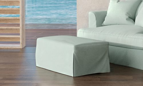 Newport Slipcovered Collection - Ottoman - living room setting SY-130030-391043