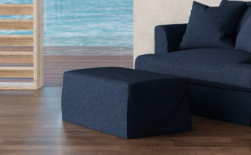 Newport Slipcovered Collection - Ottoman - living room setting SY-130030-391049