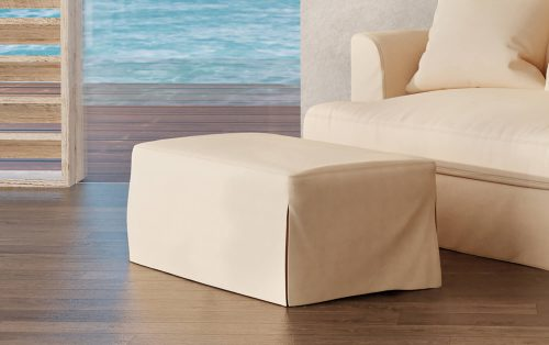 Newport Slipcovered Collection - Ottoman - living room setting SY-130030-391084