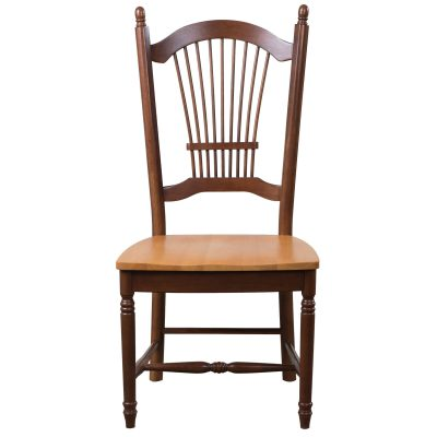 Oak Selections - Allenridge dining chair - Nutmeg finish with light-oak seat - front view DLU-C07-NLO-2