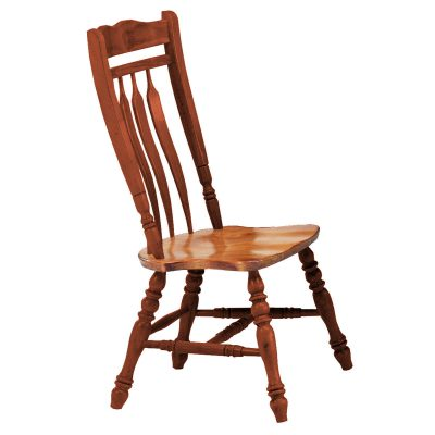 Oak Selections - Aspen dining chair 42 inch high - Nutmeg finish with Light-oak seat - front view DLU-C10-NLO-2