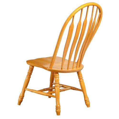 Oak Selections - Comfort back dining chair - light-oak - back view DLU-4130-LO-2