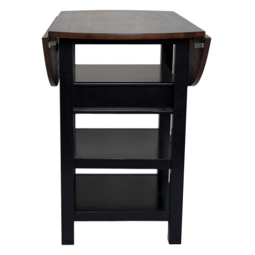 Quincy Pub table with leafs down – Black Cherry CR-A7572-68