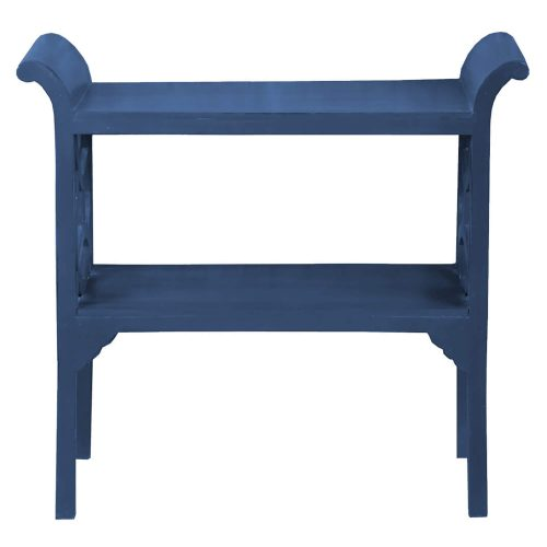 Shabby Chic Collection - Accent - Console table finished in dark blue - front view CC-TAB1033LD-SD