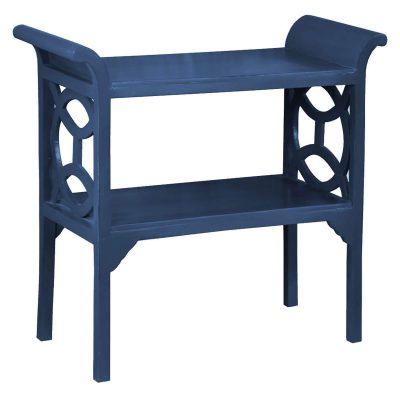 Shabby Chic Collection - Accent - Console table finished in dark blue - three-quarter view CC-TAB1033LD-SD