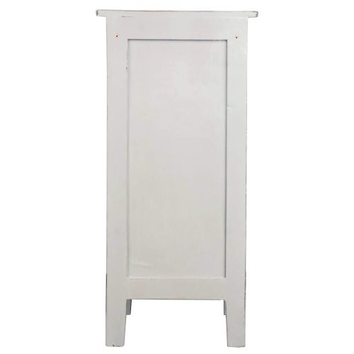 Shabby Chic Collection - Accent cabinet finished in antique gray - back view CC-TAB1032LD-AGOJ