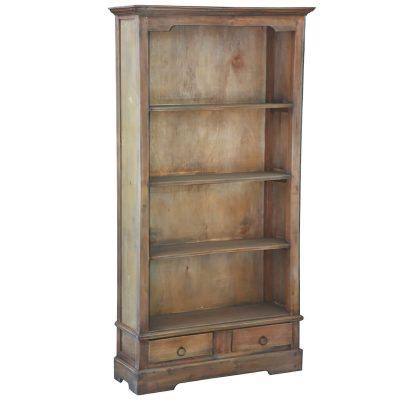 Shabby Chic Collection - Cabinet finished in distressed brown - three-quarter view CC-CAB1918S-SV