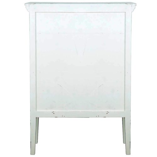 Shabby Chic Collection - Country cabinet with wire doors finished in distressed white - back view CC-CAB1282LD-WW