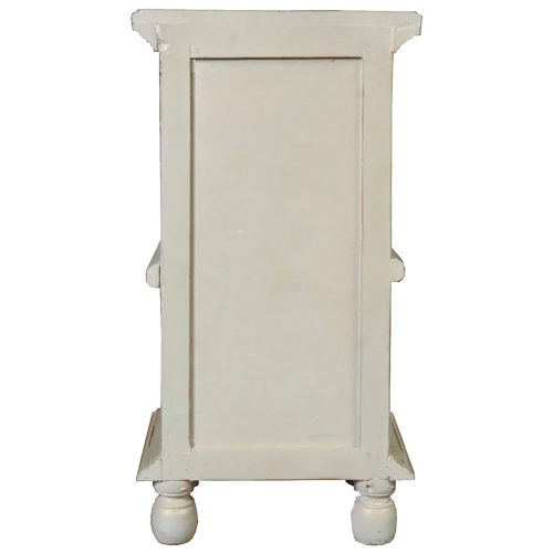 Shabby Chic Collection - End table finished in antique green with a Mahogany top back view CC-TAB016TLD-CMRW-B