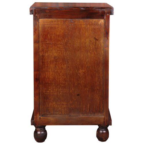Shabby Chic Collection - End table finished in rich Mahogany - back view CC-CHE050S-WN