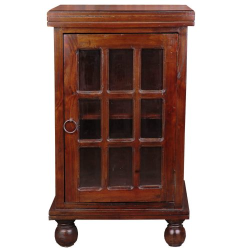 Shabby Chic Collection - End table finished in rich Mahogany - front view CC-CHE050S-WN