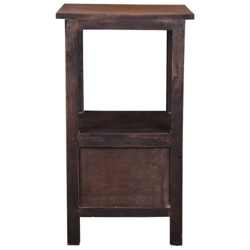 Shabby Chic Collection - End table with two drawers in a rustic finish - back view CC-TAB168TT-BWRW