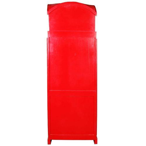 Shabby Chic Collection English Phone Booth Cabinet in Red back view CC-CAB064LD-RD
