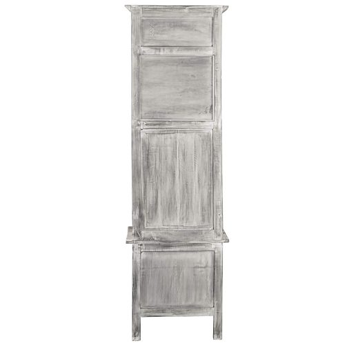 Shabby Chic Collection - Hall tree with chalkboard finished in a Gray wash - back view - CC-CAB251S-SW