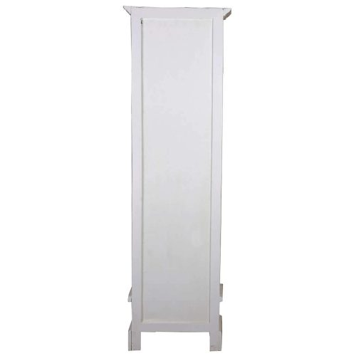 Shabby Chic Collection - Narrow bookcase finished in a distressed white - back view CC-CAB1917TLD-WWRW