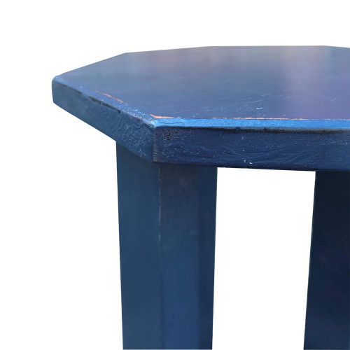 Shabby Chic Collection - Octagon side table finished in antique salty dog blue - detail of top CC-TAB500LD-SD