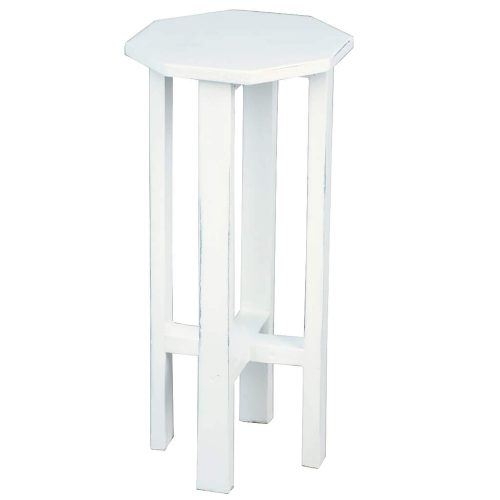 Shabby Chic Collection - Octagon side table finished in whitewash - three-quarter view CC-TAB500LD-WW