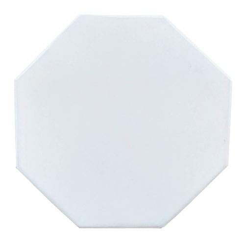 Shabby Chic Collection - Octagon side table finished in whitewash - top view CC-TAB500LD-WW