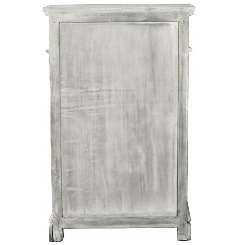 Shabby Chic Collection - Shutter cabinet finished in a Gray wash - Back view CC-CAB246S-SW