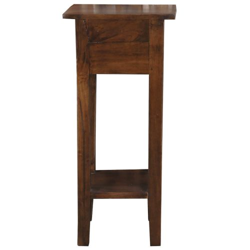 Shabby Chic Collection - Side table finished in a distressed Java brown - back view CC-TAB1792S-OJ