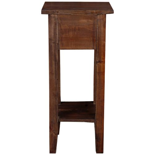Shabby Chic Collection - Side table finished in a distressed Raftwood - back view CC-TAB1792S-RW