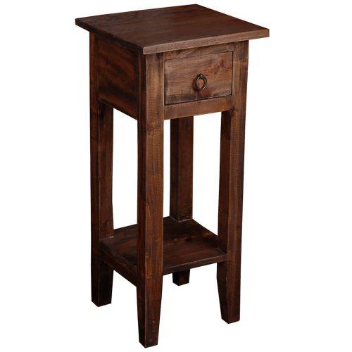 Shabby Chic Collection - Side table finished in a distressed Raftwood - three-quarter view CC-TAB1792S-RW