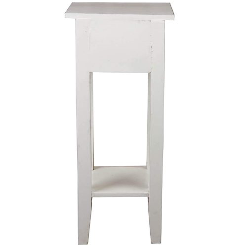 Shabby Chic Collection - Side table finished in a distressed whitewash - back view CC-TAB1792LD-WW