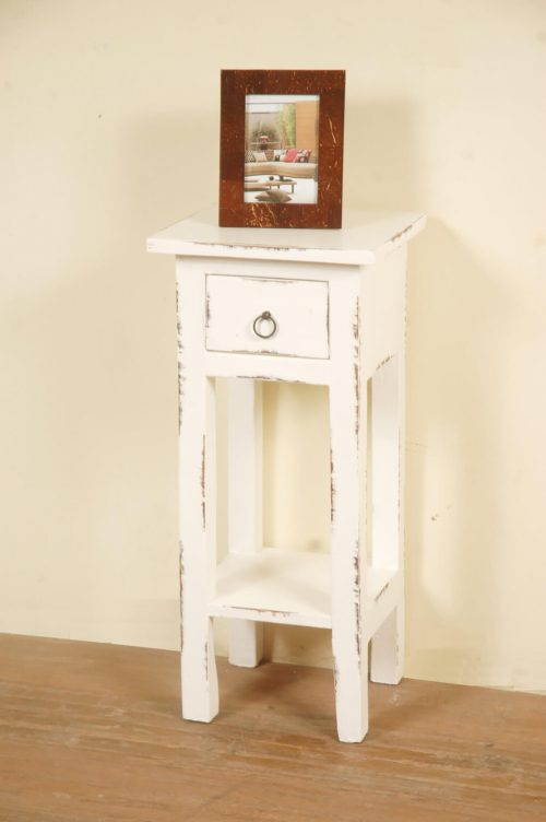 Shabby Chic Collection - Side table finished in a distressed whitewash - room setting CC-TAB1792LD-WW