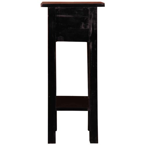Shabby Chic Collection - Side table finished in antique black and a Raftwood top - back view CC-TAB1792TLD-ABRW